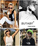 BUTABY Rectangle Sunglasses for Women Retro Driving