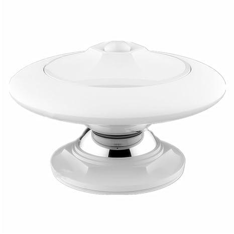 Vicloon Sensor de Movimiento 0.8W UFO Lámpara de Noche forma USB Recargable 360