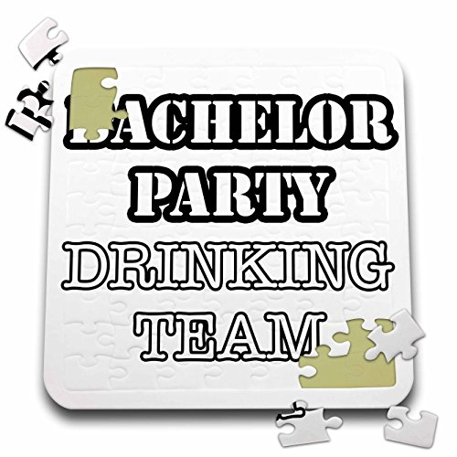 Stag,Bachelor Party - Bachelor Party Drinking Team Black - 10x10 Inch Puzzle (pzl_261069_2) by 3dRose