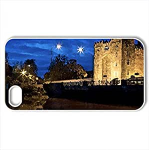 ancient fortress by a river at night - Case Cover for iPhone 4 and 4s (Rivers Series, Watercolor style, White)