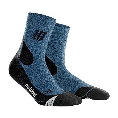 CEP Women's Outdoor Merino Mid-Cut Socks, Desert Sky/Black, Size III by Unknown