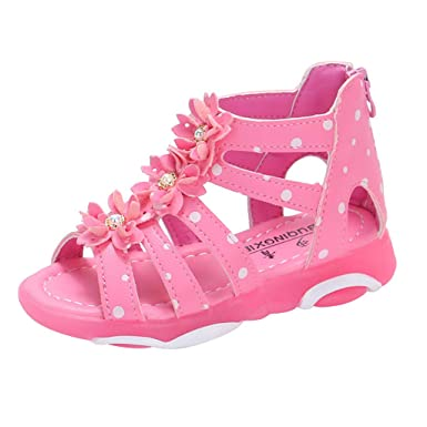 51ea27f5c5dc2 Amazon.com: LNGRY Baby Shoes, Toddler Infant Kids Girls Roman Style ...