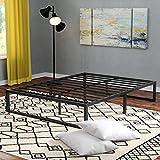 Zinus Quick Lock 35cm Smart Queen Bed Frame  Under Bed Storage, Metal Frame, Wood Slats, Easy Assemble - Black