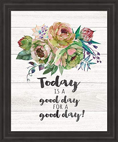 Today is a Good Day by Jo Moulton Framed Art Print Wall Picture, Traditional Black Frame, 19 x 23 inches