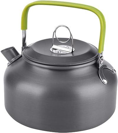 Alomejor Camping Kettle Picnic Teapot Camping Agua Hervidor ...