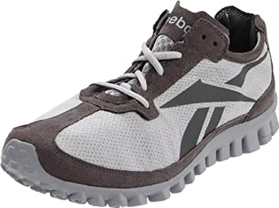 Reebok Men's Real Flex Run-Suede Running Shoe,Tin Grey/Rivet Grey,15 M US