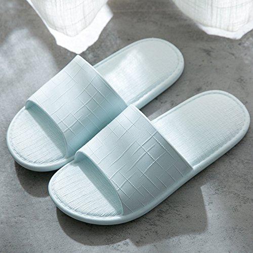 anti in pantofole home fankou bagno home raffreddare estate donne coppie plastica 39 Azzurro slip interno 38 pantofole bagno home uomini n6Rw0qaW64