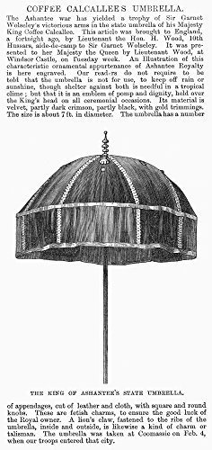 Africa State UmbrellaNthe State Umbrella Of The King Of Ashanti In Present Day Ghana Wood Engraving English 1874 Poster Print by (18 x 24) ()