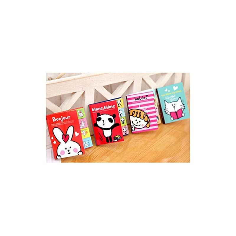 Buytra 4 Pack Cute Stickers Bookmark Mar