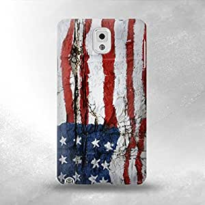 Ameriacan Flag Art - Samsung Galaxy Note 3 Back Cover Case - Full Wrap Design