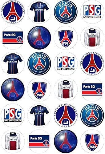Edible Decorations Paris Saint Germain For Cup Cakes Amazon Co Uk Kitchen Home