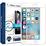 iPhone 6 Plus Screen Protector, Tech Armor 3D Curved Edge Glass Apple iPhone 6S/iPhone 6 Plus (5.5-inch) Screen Protector (Wht) [1-Pack]