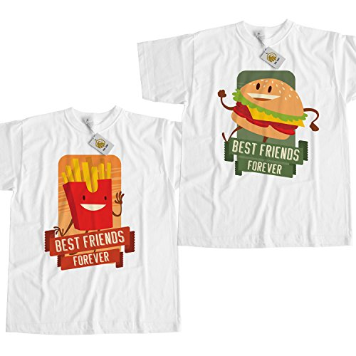 Best Friends Forever Shirt Burger And Fries T Shirt White Unisex Best Friends Outfit Unisex Style