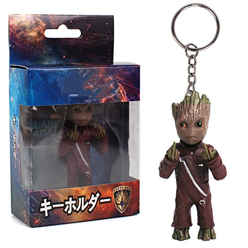 - 8 Types Mini Groot Figures Movie Guardians of The Galaxy Keychain Pendant Model Toy Best Gifts (2)