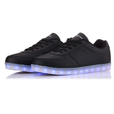 Flash Wear Black Classics- LED Shoes Light Up Trainers for Men Womens Boys  Girls - Fully Rechargeable Glow Shoes from a UK Brand  Amazon.co.uk  Shoes    Bags f2161b050112