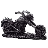 Graveyard Biker Skulls and Skeleton Motorcycle Wine