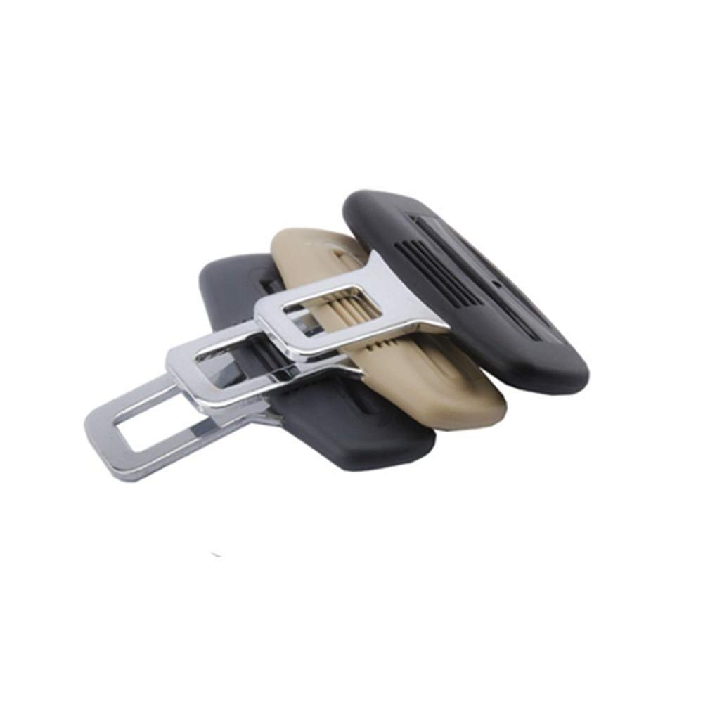 Black Car Safety Belt Clips Seat Belt Buckle Safety Stopper Belt Clips Lock Belt Adjustment for honda toyota opel mazda BMW car styling accessories