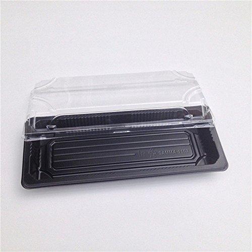 Samma: Sushi Tray + Lid in 400pcs (SM1-1102 CH) Black Color Black Sushi Tray