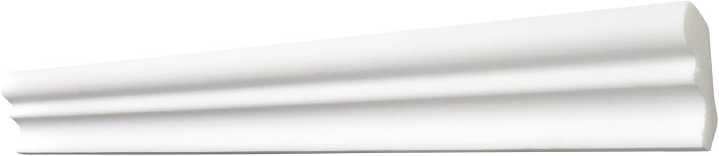 F/ür Decke und Wand 20 cm L/änge Edle Stuckleiste in Wei/ß 8 Leisten /à ca Zierleiste aus Styropor 40 x 50 mm DECOSA Innenecke f/ür Zierprofil D50 SILVANA 4 Ecken