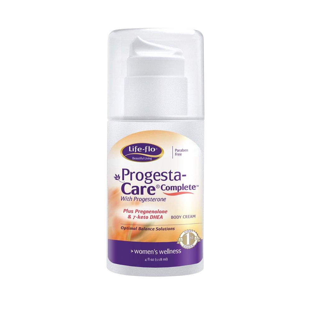 Life-Flo Progesta-Care Complete w/ Natural Progesterone USP, Pregnenolone & 7-Keto DHEA | Physician-Developed Cream for Optimal Balance | 4-oz Pump