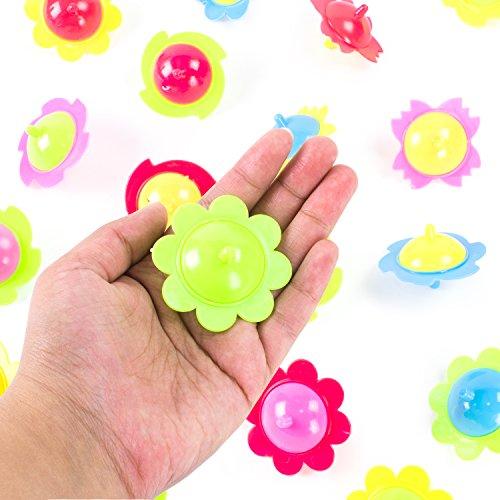 Mini Hand Finger Spinner Tops Twisting Plastic Flower Prize