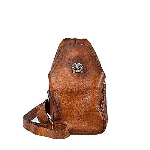 PRATESI Italian leather Crossbody bag in aged calf leather PITIGLIANO