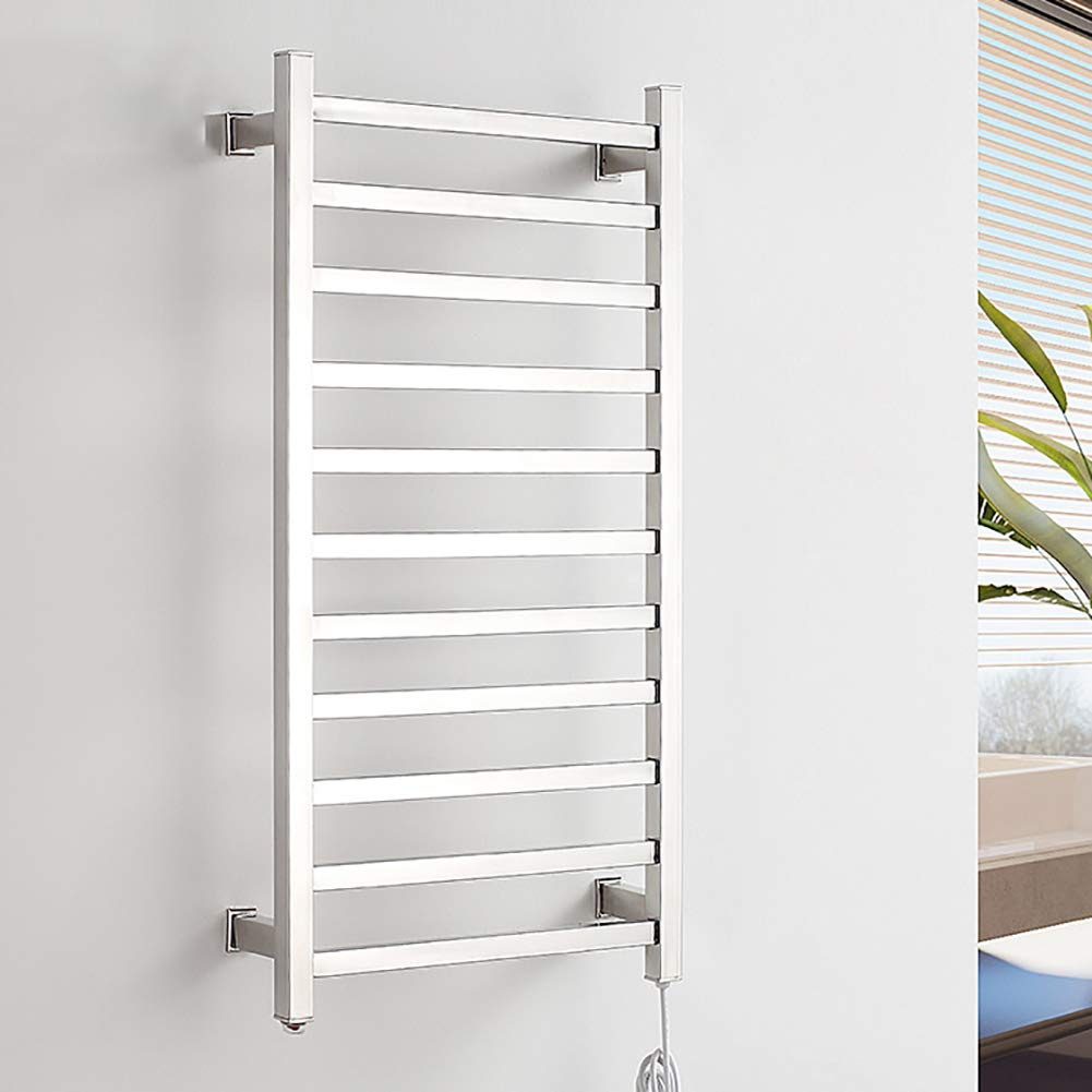 304 Stainless Steel Towel Warmer Rack,Hotel Bath Towel Warmer Wall Mounted Waterproof Intelligent Constant Temperature Heating Polished Surface,Openline