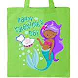 Inktastic - Valentine Mermaid with pearl Tote Bag Lime Green 2e471