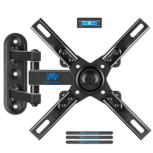 Mounting Dream TV Mount with Articulating Arm for 17-39 Inch TVs, Full Motion TV Wall Mount up to VESA 200x200mm and 33 lbs, Easy Installation and Fits Single Wood Stud ()