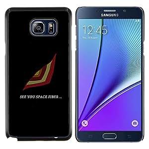TECHCASE---Cubierta de la caja de protección para la piel dura ** Samsung Galaxy Note 5 ** --See You Espacio