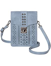 Women RFID Blocking Small Crossbody Bags Cell Phone Purse Wallet With Credit Card Slots