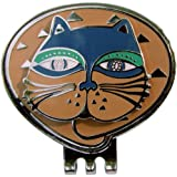 Adorable Orange Cat Ball Marker with Matching Magnetic Clip--Love My Cat!