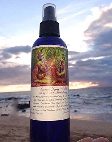 Sacred Rose Water Spray Body Mist & Aromatherapy 8oz *100% Pure Rose Oil* Divine Intoxication in Every Spray *Amazing Facial Toner* Great for Face, Skin, & Opening of the (Water Fragrance Spray)