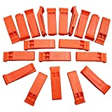 Plastic Floating Orange Whistle for Boats, Raft, Marine Emergency - 50 Pack