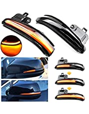 QKLsudua 2pcs Dynamic Sequential Blink Compatible with Toyota Tacoma 2016-2021, RAV4 2019-2021, Highlander 2020-2021 Alphard Vellfire AH30 LED Side Mirror Turn Signal Light Assembly