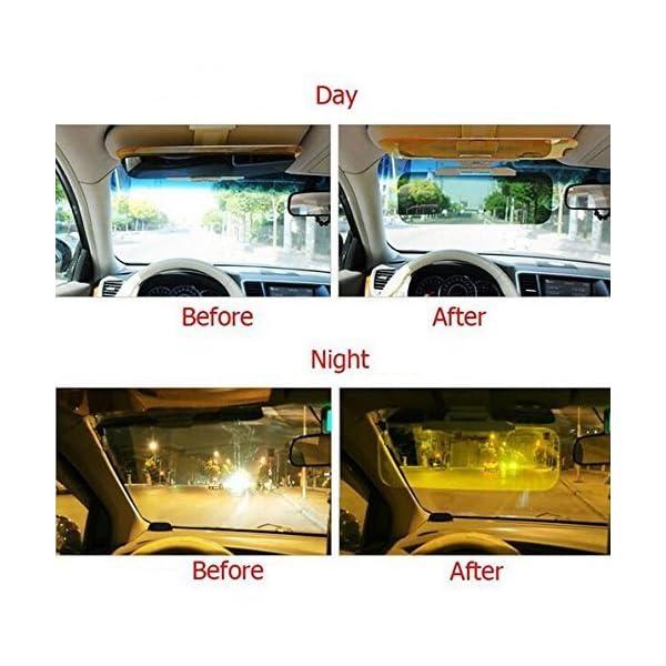 Extensor de Parasol Anti-Deslumbramiento,Coche Anti-Deslumbramiento Anti-Deslumbramiento - Gafas Sun Visor Extensor Protector Solar Shade Día o de la noche anti-deslumbramiento Autour 7