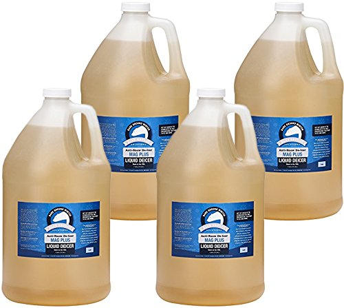 Bare Ground BGS-4 All Natural Anti-Snow Liquid De-Icer, 128 oz (1 Gallon) - Pack of 4 (Ice Melter Bare Ground)
