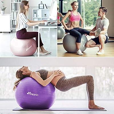 TRESKO® Pelota de Gimnasia Anti-Reventones | Bola de Yoga Pilates ...