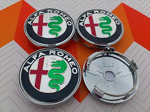 4/runde Nabenkappen; Alfa Romeo; 60/mm Tuning