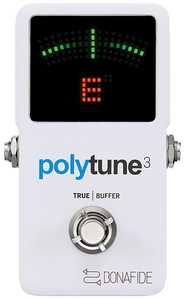 TC Electronics PolyTune 3 Polyphonic LED Guitar Tuner Pedal with Buffer, Multicolored 966130001