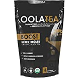 Oola Tea - BOOST (Berry Brûlée) 14 Count | Certified Organic Black Tea | Boosts Concentration | Rich in Flavonoids