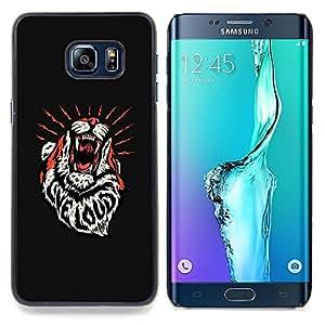 - Tiger Roar Loud Live Inspirational Message/ Duro Snap en el tel????fono celular de la cubierta - Cao - For Samsung Galaxy S6 Edge Plus