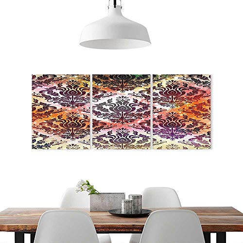 Park Traditional Chandelier - Triptych Painting Combination Frameless W16