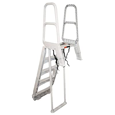 MAIN ACCESS 200700T Comfort Incline Ladder for Above Ground Swimming Pools : Swimming Pool Ladders : Garden & Outdoor