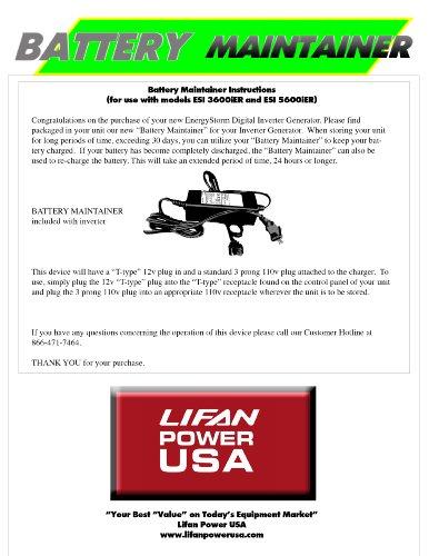 Lifan power Storm ESI 3600iER Generators