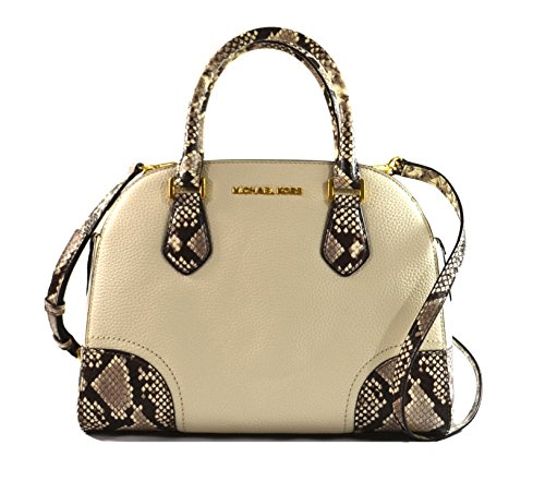 Michael Kors Hattie Satchel Bowling Crossbody Bag Ecru (Michael Kors Iphone 5 Cover)