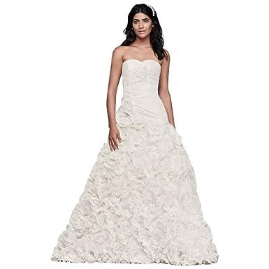 David\'s Bridal Rosette Skirt Wedding Dress Style OP1304 at Amazon ...