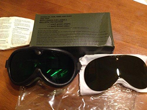 Burning Man Goggles : Tactical Military Issue Ballistic Combat Eyewear New w/ 2 Laser Lens - Eyewear Combat