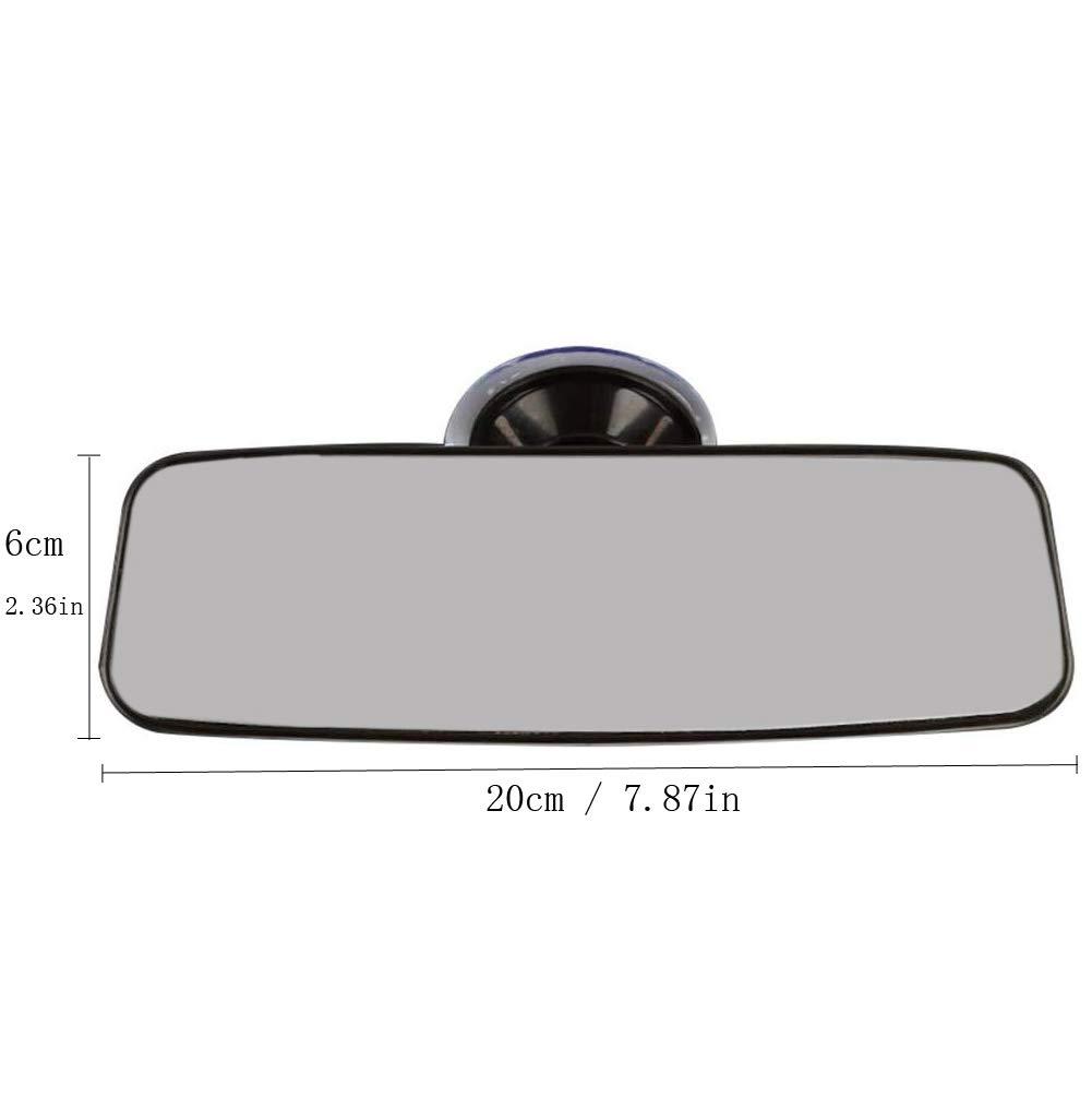 miroir auxiliaire universel /à ventouse forte pour miroirs anti-reflets de voiture de transporteur de camions R/étroviseur int/érieur de voiture Kelay bleu, 24,8 * 7 cm
