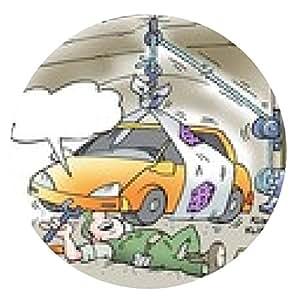 alfombrilla de ratón Mecánico Levantar el automóvil con ascensor casera - ronda - 20cm